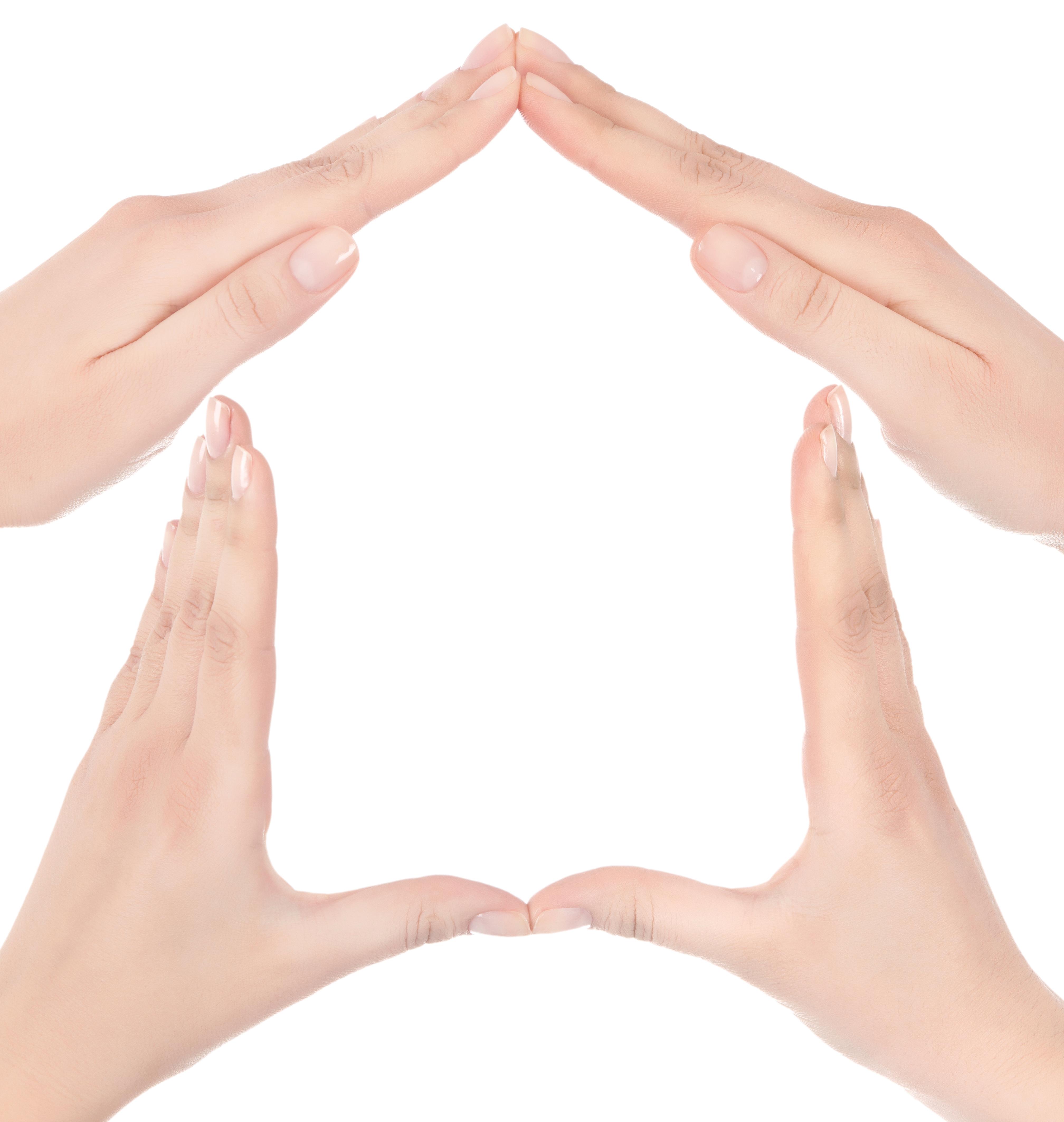 concept mains forme maison